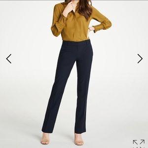 ANN TAYLOR Petite Mid Rise Black Pant Size 8P
